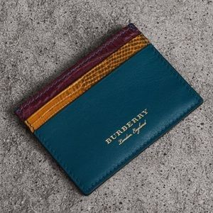 Burberry Leather, Lizard and Alligator Card Case